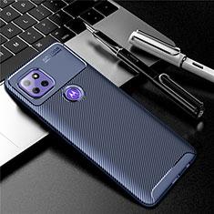 Coque Silicone Housse Etui Gel Serge S01 pour Motorola Moto G 5G Bleu