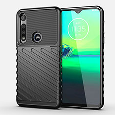 Coque Silicone Housse Etui Gel Serge S01 pour Motorola Moto G8 Play Noir