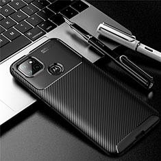 Coque Silicone Housse Etui Gel Serge S01 pour Motorola Moto G9 Power Noir
