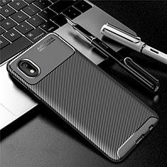 Coque Silicone Housse Etui Gel Serge S01 pour Samsung Galaxy A01 Core Noir