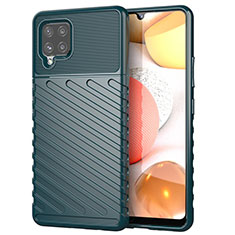 Coque Silicone Housse Etui Gel Serge S01 pour Samsung Galaxy A42 5G Vert Nuit