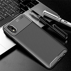 Coque Silicone Housse Etui Gel Serge S01 pour Samsung Galaxy M01 Core Noir