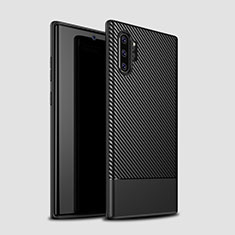 Coque Silicone Housse Etui Gel Serge S01 pour Samsung Galaxy Note 10 Plus Noir