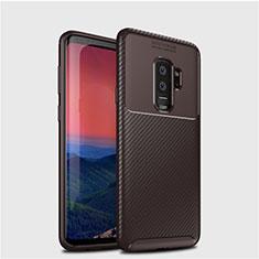 Coque Silicone Housse Etui Gel Serge S01 pour Samsung Galaxy S9 Plus Marron
