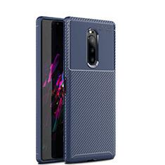 Coque Silicone Housse Etui Gel Serge S01 pour Sony Xperia 1 Bleu