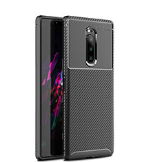 Coque Silicone Housse Etui Gel Serge S01 pour Sony Xperia 1 Noir