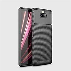 Coque Silicone Housse Etui Gel Serge S01 pour Sony Xperia 10 Plus Noir