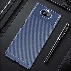 Coque Silicone Housse Etui Gel Serge S01 pour Sony Xperia 8 Bleu