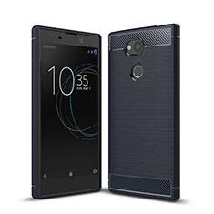 Coque Silicone Housse Etui Gel Serge S01 pour Sony Xperia L2 Bleu