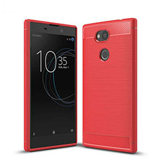 Coque Silicone Housse Etui Gel Serge S01 pour Sony Xperia L2 Rouge