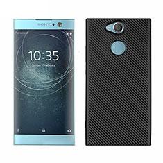 Coque Silicone Housse Etui Gel Serge S01 pour Sony Xperia XA2 Noir