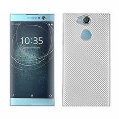 Coque Silicone Housse Etui Gel Serge S01 pour Sony Xperia XA2 Plus Blanc