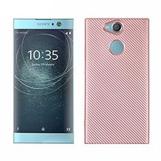 Coque Silicone Housse Etui Gel Serge S01 pour Sony Xperia XA2 Plus Or Rose