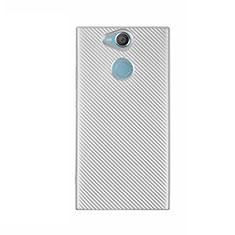 Coque Silicone Housse Etui Gel Serge S01 pour Sony Xperia XA2 Ultra Blanc