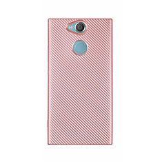 Coque Silicone Housse Etui Gel Serge S01 pour Sony Xperia XA2 Ultra Or Rose
