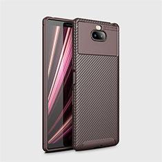 Coque Silicone Housse Etui Gel Serge S01 pour Sony Xperia XA3 Marron