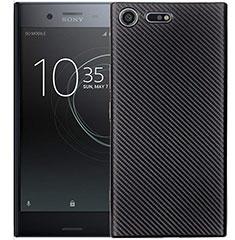 Coque Silicone Housse Etui Gel Serge S01 pour Sony Xperia XZ1 Compact Noir