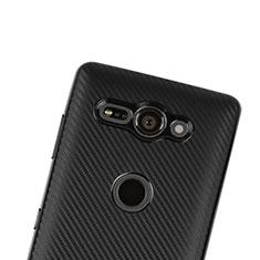 Coque Silicone Housse Etui Gel Serge S01 pour Sony Xperia XZ2 Compact Noir