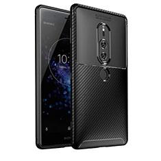 Coque Silicone Housse Etui Gel Serge S01 pour Sony Xperia XZ2 Premium Noir