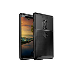 Coque Silicone Housse Etui Gel Serge S01 pour Sony Xperia XZ3 Noir