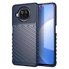 Coque Silicone Housse Etui Gel Serge S01 pour Xiaomi Mi 10i 5G Bleu