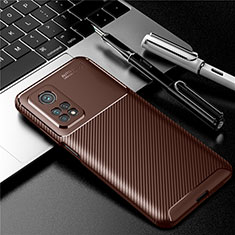Coque Silicone Housse Etui Gel Serge S01 pour Xiaomi Mi 10T Pro 5G Marron
