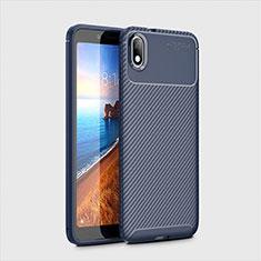 Coque Silicone Housse Etui Gel Serge S01 pour Xiaomi Redmi 7A Bleu