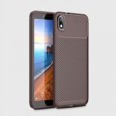 Coque Silicone Housse Etui Gel Serge S01 pour Xiaomi Redmi 7A Marron