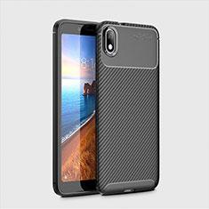 Coque Silicone Housse Etui Gel Serge S01 pour Xiaomi Redmi 7A Noir