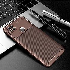 Coque Silicone Housse Etui Gel Serge S01 pour Xiaomi Redmi 9C NFC Marron