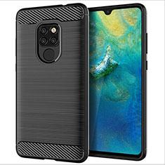 Coque Silicone Housse Etui Gel Serge S02 pour Huawei Mate 20 Noir