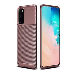 Coque Silicone Housse Etui Gel Serge S02 pour Samsung Galaxy S20 5G Marron