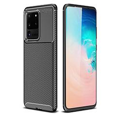 Coque Silicone Housse Etui Gel Serge S02 pour Samsung Galaxy S20 Ultra 5G Noir