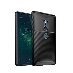 Coque Silicone Housse Etui Gel Serge S02 pour Sony Xperia XZ2 Noir