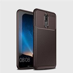 Coque Silicone Housse Etui Gel Serge S03 pour Huawei Mate 10 Lite Marron