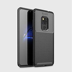 Coque Silicone Housse Etui Gel Serge S03 pour Huawei Mate 20 Noir