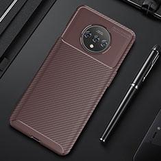 Coque Silicone Housse Etui Gel Serge S03 pour OnePlus 7T Marron