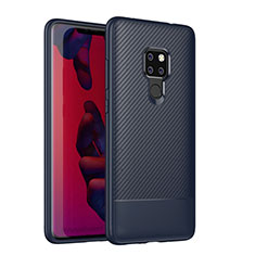Coque Silicone Housse Etui Gel Serge S04 pour Huawei Mate 20 Bleu
