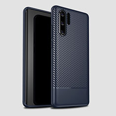 Coque Silicone Housse Etui Gel Serge S04 pour Huawei P30 Pro Bleu