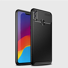 Coque Silicone Housse Etui Gel Serge T01 pour Huawei Honor V10 Lite Noir