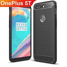 Coque Silicone Housse Etui Gel Serge T01 pour OnePlus 5T A5010 Noir