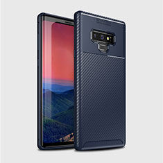 Coque Silicone Housse Etui Gel Serge T01 pour Samsung Galaxy Note 9 Bleu