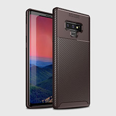 Coque Silicone Housse Etui Gel Serge T01 pour Samsung Galaxy Note 9 Marron