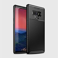 Coque Silicone Housse Etui Gel Serge T01 pour Samsung Galaxy Note 9 Noir