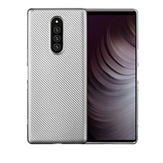 Coque Silicone Housse Etui Gel Serge T01 pour Sony Xperia 1 Argent