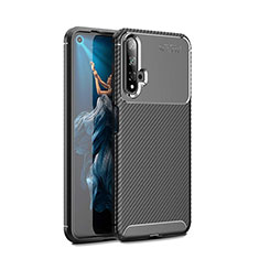 Coque Silicone Housse Etui Gel Serge Y01 pour Huawei Honor 20 Noir
