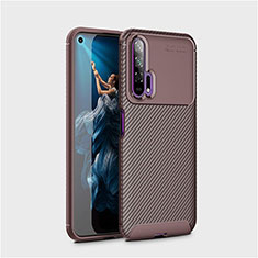 Coque Silicone Housse Etui Gel Serge Y01 pour Huawei Honor 20 Pro Marron