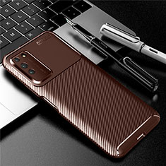 Coque Silicone Housse Etui Gel Serge Y01 pour Huawei Honor X10 5G Marron