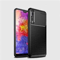 Coque Silicone Housse Etui Gel Serge Y01 pour Huawei P20 Pro Noir