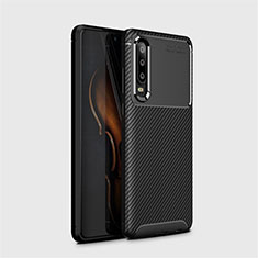 Coque Silicone Housse Etui Gel Serge Y01 pour Huawei P30 Noir